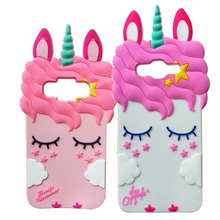 For Samsung J2 Prime / Grand G530 J1 J120 2016 Core G360 3D Case Cartoon Pretty Unicorn Soft Silicon Shell