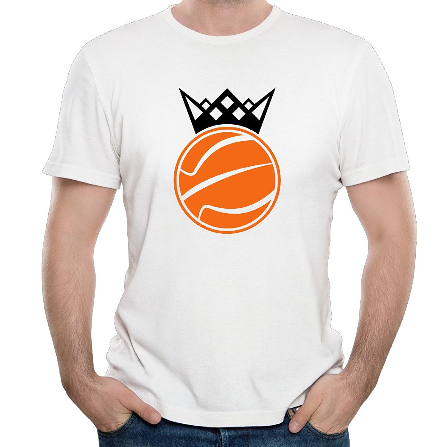 Gildan Elan Ball King Free Online Game For Mens T Shirts White