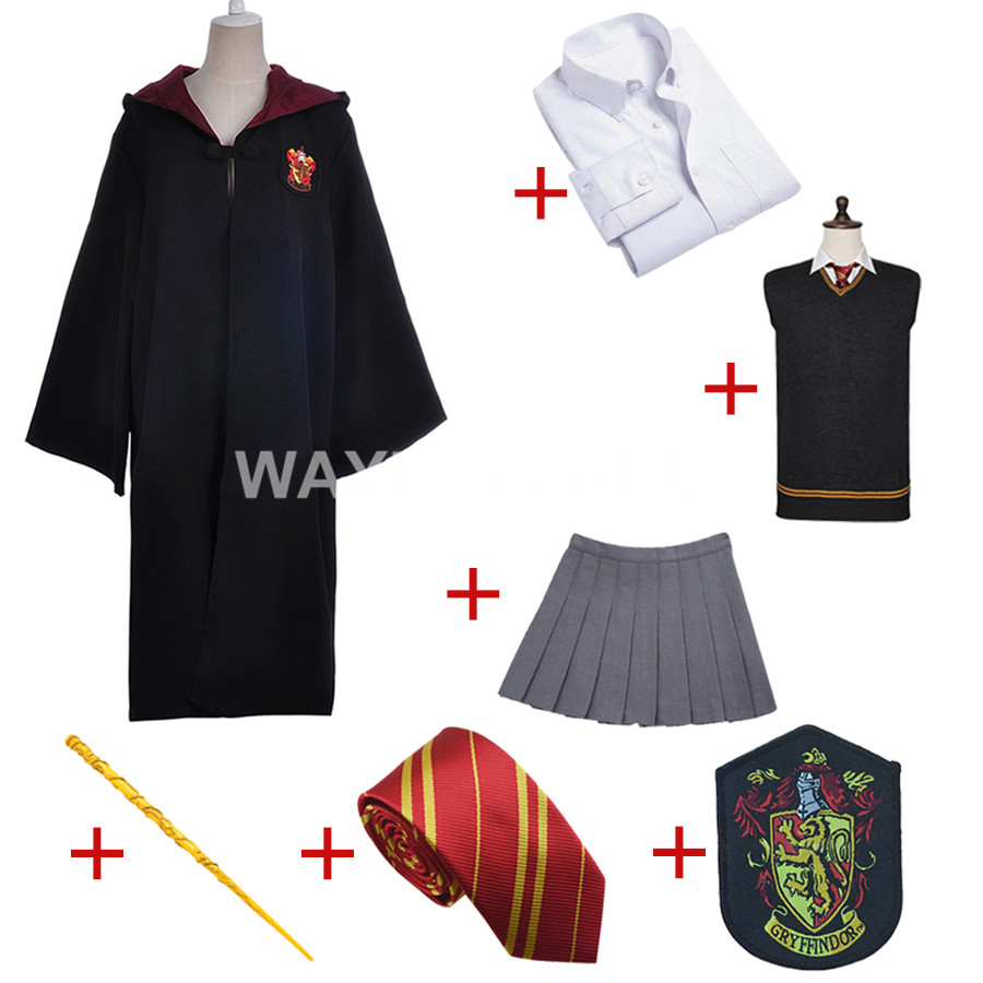 Costume de Cosplay Hermione Granger uniforme Version adulte fête d'halloween en coton pour Cosplay Harri Potter