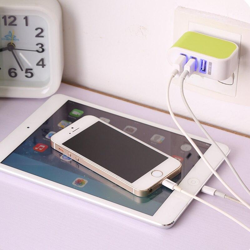 3 port USB şarj cihazı 2A EU batareya şarj cihazına qoşulan - Cib telefonu aksesuarları və hissələri - Fotoqrafiya 5