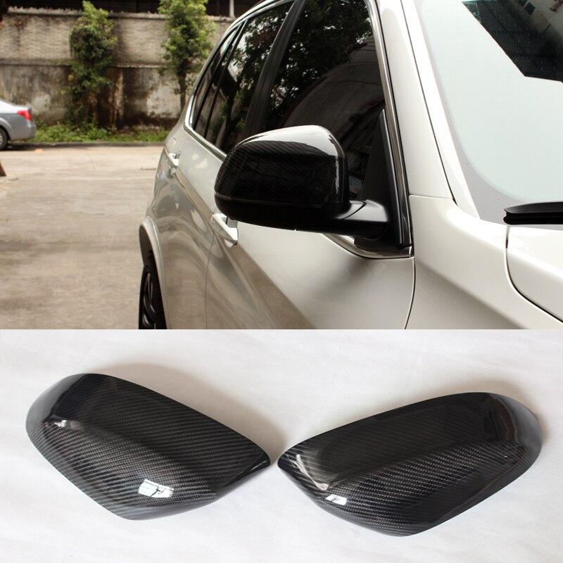 F16 X6 Carbon Fiber Replace Car Rearview Mirror cap Trim for BMW X Series 2014 2016