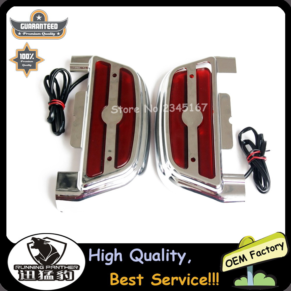 Harley touring dyna softail passenger footboard floorboard cover covers kit