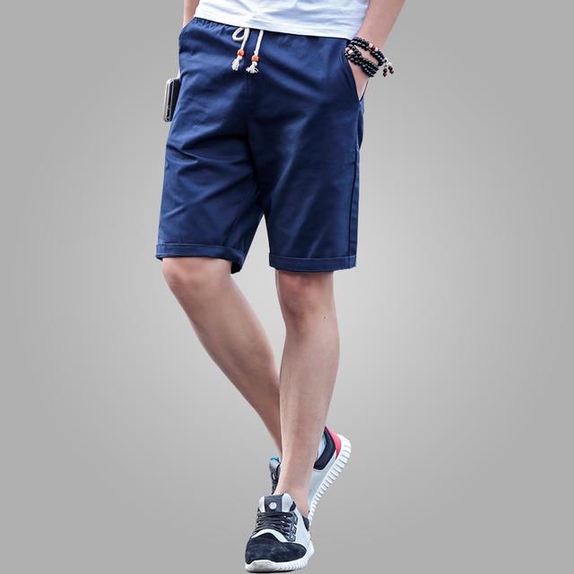 eaa828f3ec 2018 nuevo verano Casual Shorts hombres algodón moda estilo Mens Shorts  bermuda beach negro pantalones cortos