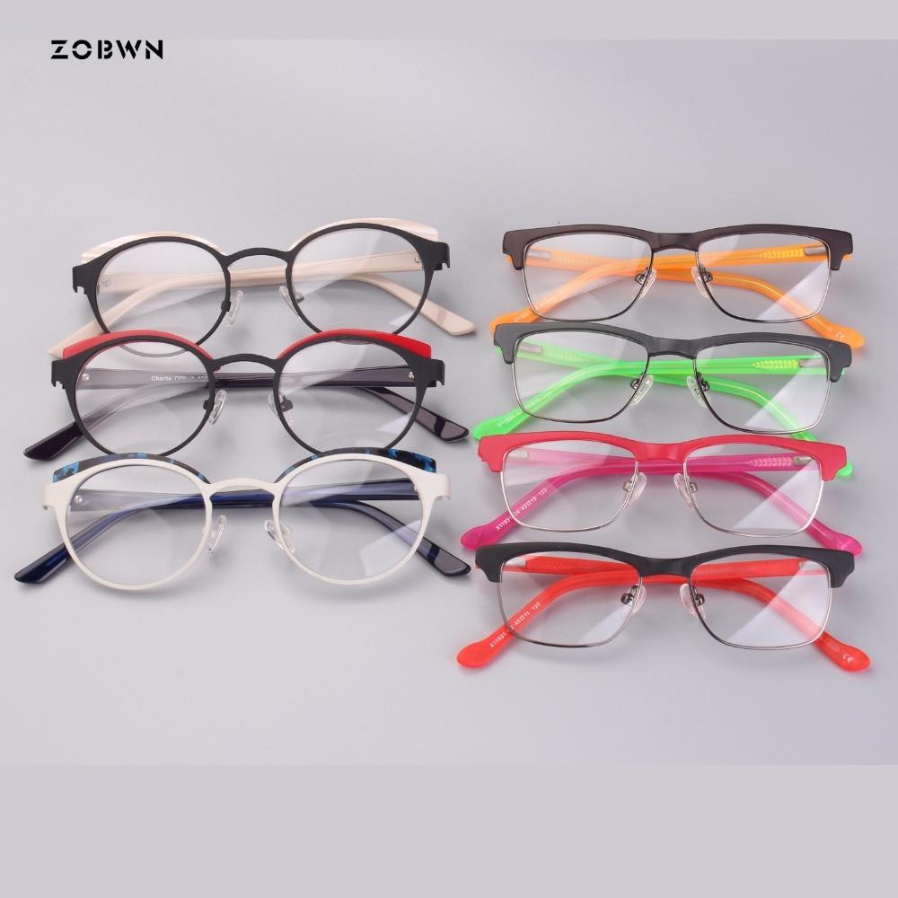 Mix wholesale top sale kids Glasses girls boys children Optical round Eyeglasses women Retro Glasses Prescription