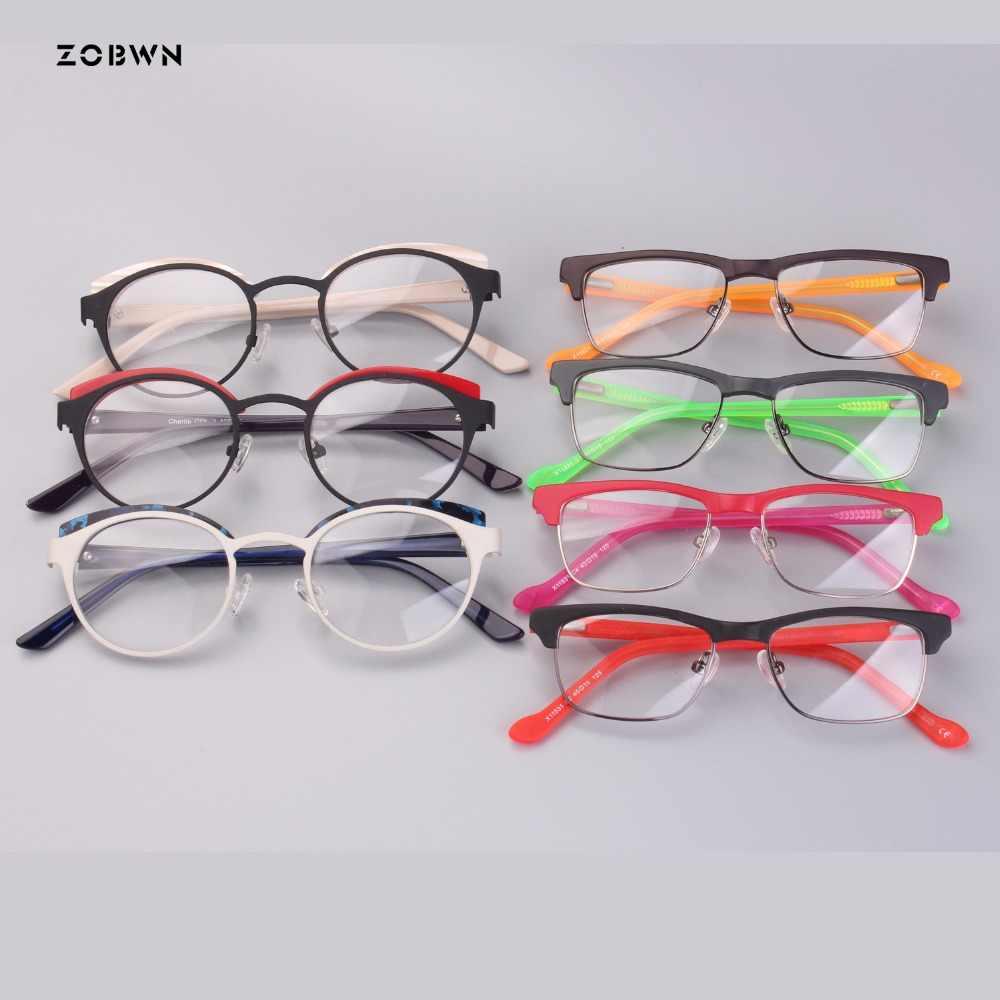 02f9e50472 Mezcla al por mayor venta superior niños gafas niños niñas redonda óptica  gafas mujer Retro gafas