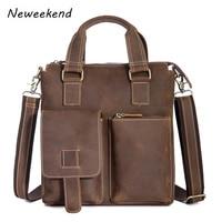 Mens Messenger Bag Male Genuine Leather Man Ipad Shoulder Crossbody bags Laptop Handbags briefcase Business Travel For Gift