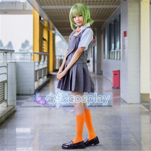 Nuevo Japonés Anime VOCALOID Hatsune Miku Ropa Cosplay GUMI Cosplay de Halloween para Las Mujeres de la Chaqueta + Camiseta + Falda
