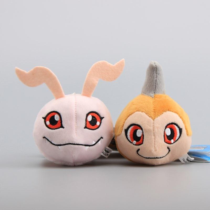 Anime Digimon Adventure Unicorn Koromon Plush Pendant Stuffed Soft Dolls Cute Small Keychain 4