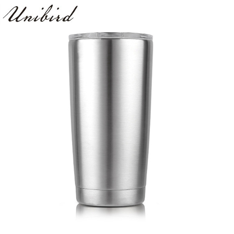 Unibird 1Pc Double Vacuum 304Stainless Steel Insulated Coffee <font><b>Mug</b></font> <font><b>20oz</b></font> Slim Cruiser Tumbler Car Beer Cup Tea Trave <font><b>Mug</b></font> for Cold image