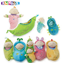 RAINBOX Baby Hanging Bed Safety Seat Plush Toy Hand Sleeping Multifunctional Rattle Plush Toy Stroller Gifts
