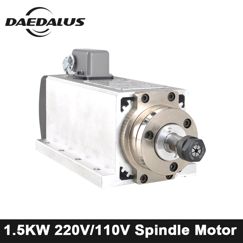 1.5KW ER11 CNC Spindle Motor Air Spindle Router Motor 220V /110V ER11 Collet Milling Machine Tools For Engraving With 4 Bearings new product 300w er11 high speed cnc spindle motor kit for engraving milling cnc router machine