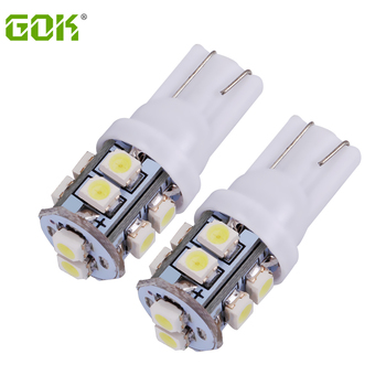 Free Shipping 500pcs/lot Car Led Light T10 10smd LED 1210 3528 SMD t10 10led W5W 168 194 SMD LED Bulb White Color car-styling