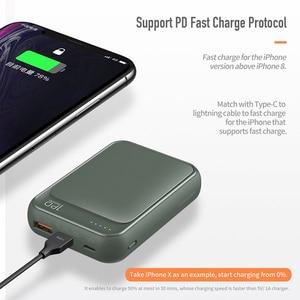 Image 5 - 18W PD QC 3.0 10000mah güç bankası ROCK Mini LED harici pil USB PD hızlı için hızlı şarj Powerbank iPhone Xiaomi Samsung