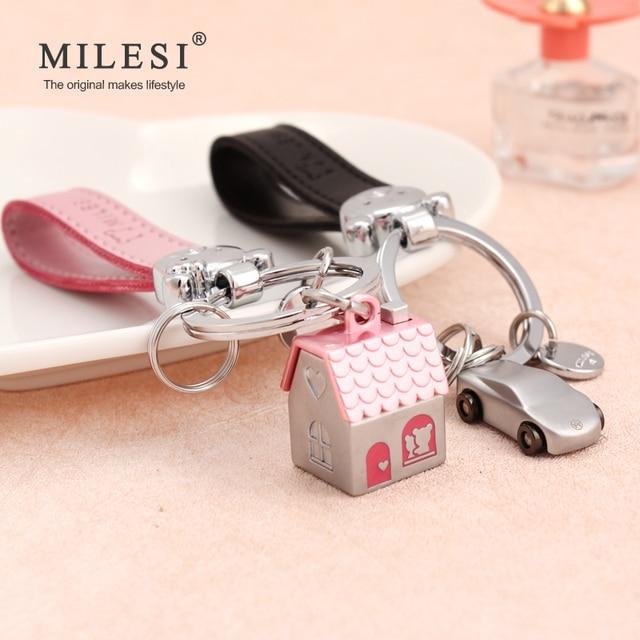 Фото milesi пары брелоков для ключей дом автомобиль в форме брелок цена