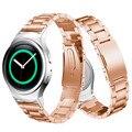 Correas de reloj negro milanese bucle magnético de acero inoxidable reloj band + conector para samsung gear s2 rm-720 reemplazo venda de reloj