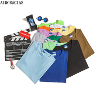 AIRGRACIAS Top Quality Brand Clothing Casual T Shirt 13 Solid Color Tops Tees Summer Men T