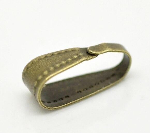 Alloy Pendant Bails Clips & Pendant Clasps Antique Bronze 11mm( 3/8