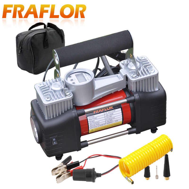 Compresor de aire Digital portátil para coche de alta resistencia, bomba de inflado de 12 V, Inflador de neumáticos eléctrico, configuración por defecto de bomba inflable