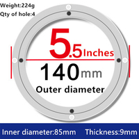 5 Inch Aluminum Lazy Susan Swivel Plate Round Turntable Bearings