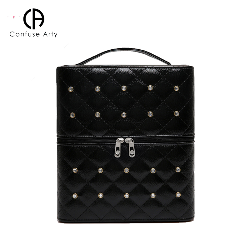 Image 3 - Makeup Bag High Quality Lovely Cosmetic Box Women casual Folding Layers Professional Travel Storage Case Large Capacity Suitcasemakeup bagtravel storage caselovely cosmetics -
