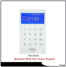 Wireless Tempered Glass Touch Screen RFID Tags keypad Built In Battery Powered Compatible with ST-VGT, ST-IIIB , ST-IIIGW alarm