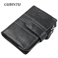 Classical European And American Style Men Wallets Genuine Leather Wallet Fashion Zipper Coin Pocket Purse Card