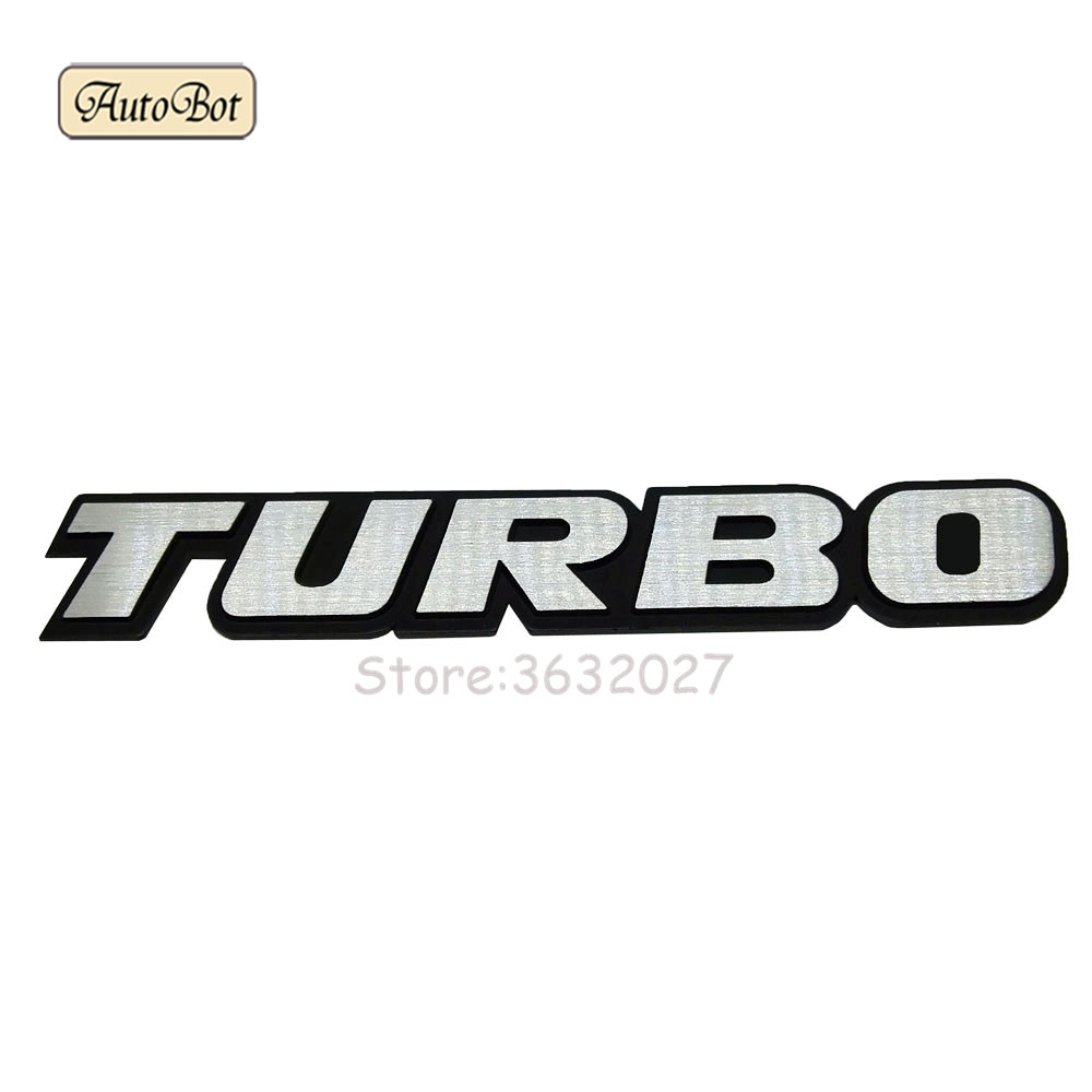 Aluminum TURBO Car Sticker Emblem Chrome Logo Rear Badge For Mazda 3 Vw Polo Ford Fiesta Bmw X5 E53 Toyota Corolla Citroen C5