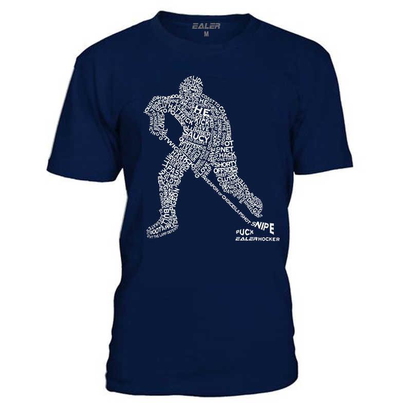 Camisetas EALER de algodón con cuello redondo para Hockey sobre hielo de alta calidad envío gratis camisa Vintage de manga corta para hombre TS1829