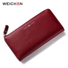 WEICHEN Women Wallets Long Purse Korean Style Female Hasp & Zipper Coin Purses Large Capacity Lady Card Holder Clutch Purse Bags(China)