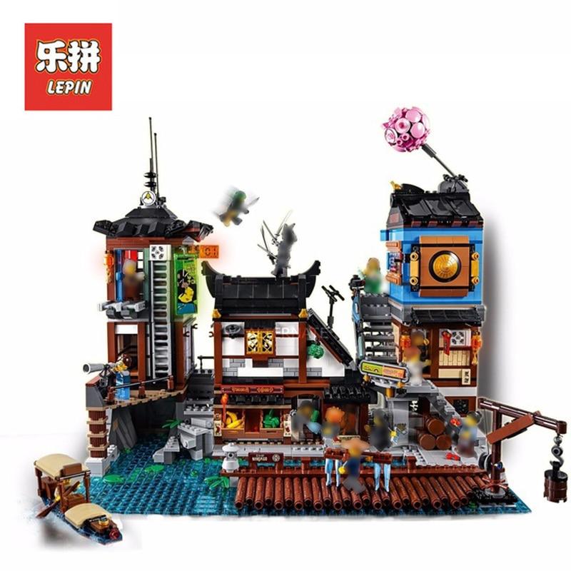 Presell Lepin Sets Ninjagoed Figures 06083 3979Pcs City Port Kai Jay Cole Model Building Kits Blocks Bricks Kids Toys Gift 70657