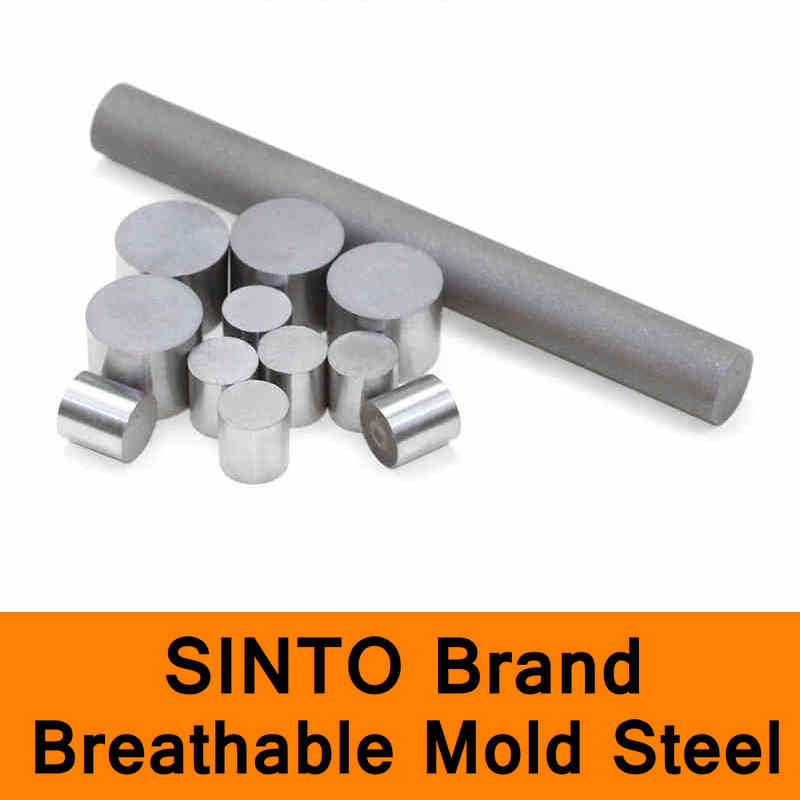 PM35 Breathable Mold Steel Bar SINTO Whole New Brand High Quality Mould Breath Stainless Steel Round Bar Length 100mm high tech and fashion electric product shell plastic mold