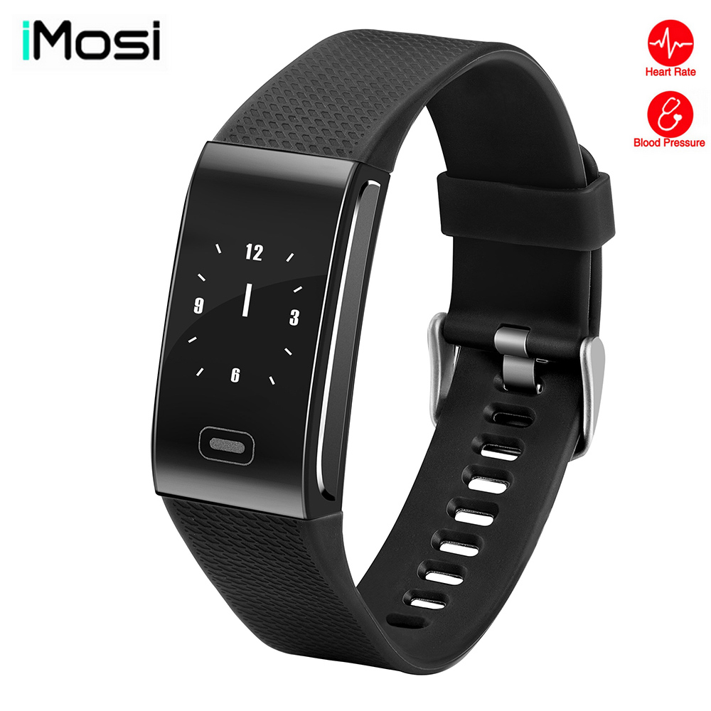Imosi CK18 ECG heart rate blood pressure monitoring smart bracelet sports Bluetooth Passometer waterproof watch for ios Android