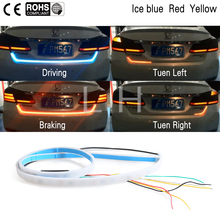 3 Color LED Car Tail Trunk Tailgate Strip Light Brake 120cm Driving Signal Knight trunk light