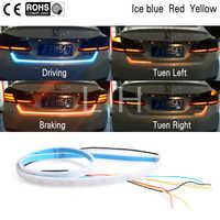 3 cor led cauda do carro tronco bagageira tira luz de freio 120cm condução sinal cavaleiro tronco luz carro led luz tira