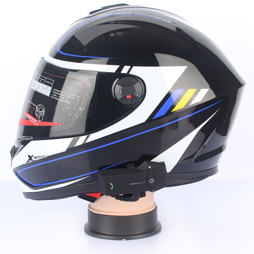 1 pc Motorcycle Helmet Headset COLO 1000M Bluetooth Intercom NFC FM Radio  Function with Soft Microphone for Integral Helmet