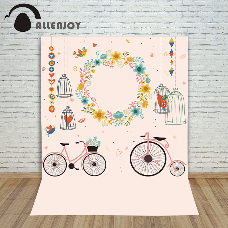 Pictures background for font b photos b font Bicycle wreath birdcage heart children s photographic font