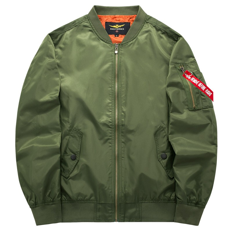 Army Green Military motorcycle Ma-1 aviator pilot Air men bomber jacket 53