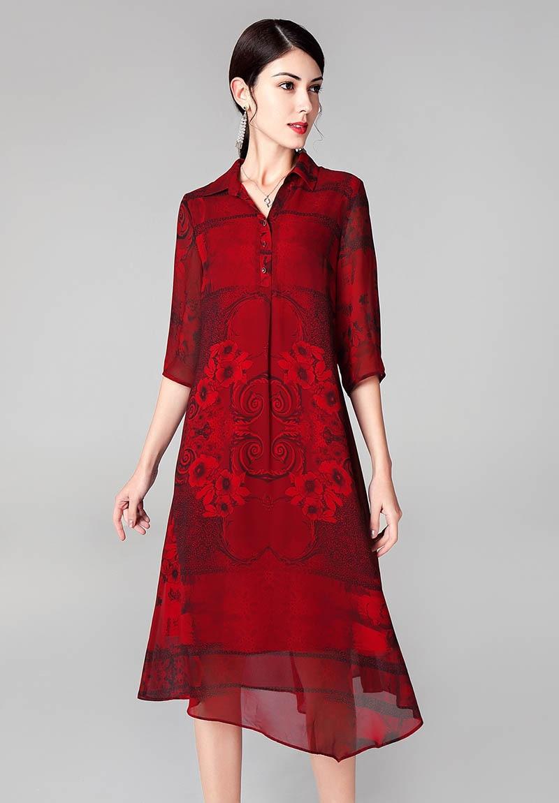 Chemise Marron Mince De Revers Parti M Jupe Femmes Printemps bourgogne Gamme Robe 4xl Lady Haut AYUnwqI4xq
