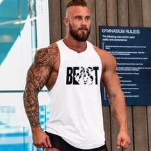 Stringer Tank Top Gasp Brand Mens Bodybuilding Fitness Male Singlets T Shirts