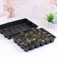 24 Cells Plant Seeds Grow Nursery Pots Tray Hydroponic Seedling Tray Sprout Plate Plastic Nursery Tray Vegetable Seedling Pot