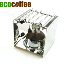 Free Shipping Tiamo Mini Syphon Burner Sets Coffee Makers with Stainless Steel Rack Moka Pot Burner