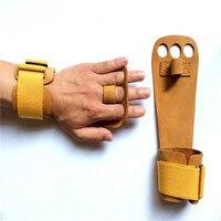 Professional Gymnastics Fitness Gloves Matte Leather Full Leather Leather Palm Anti Skid Horizontal Bar Big Loop