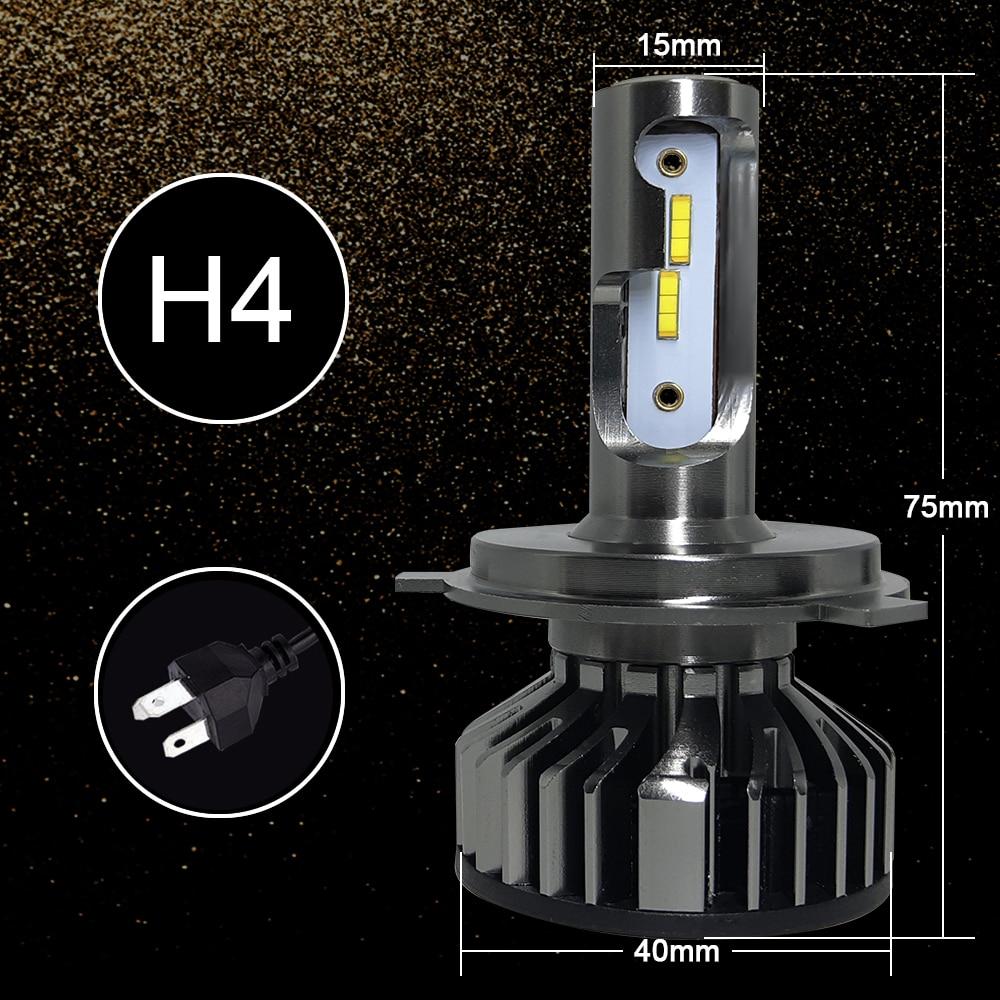 Автомобильный головной светильник H4 110W 16000LM светодиодный H7 canbus H1 H3 H8 H11 9005 9006 55 Вт 20000lm 6500 к стайлинга автомобилей Авто противотуманных фар с возможностью креативного Светильник лампы