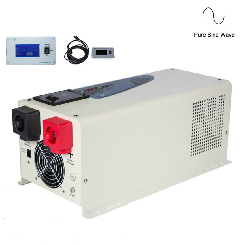 2019 new design 3000w  3kw pure sine wave solar power inverter with charger solar panel inverter with UPS function