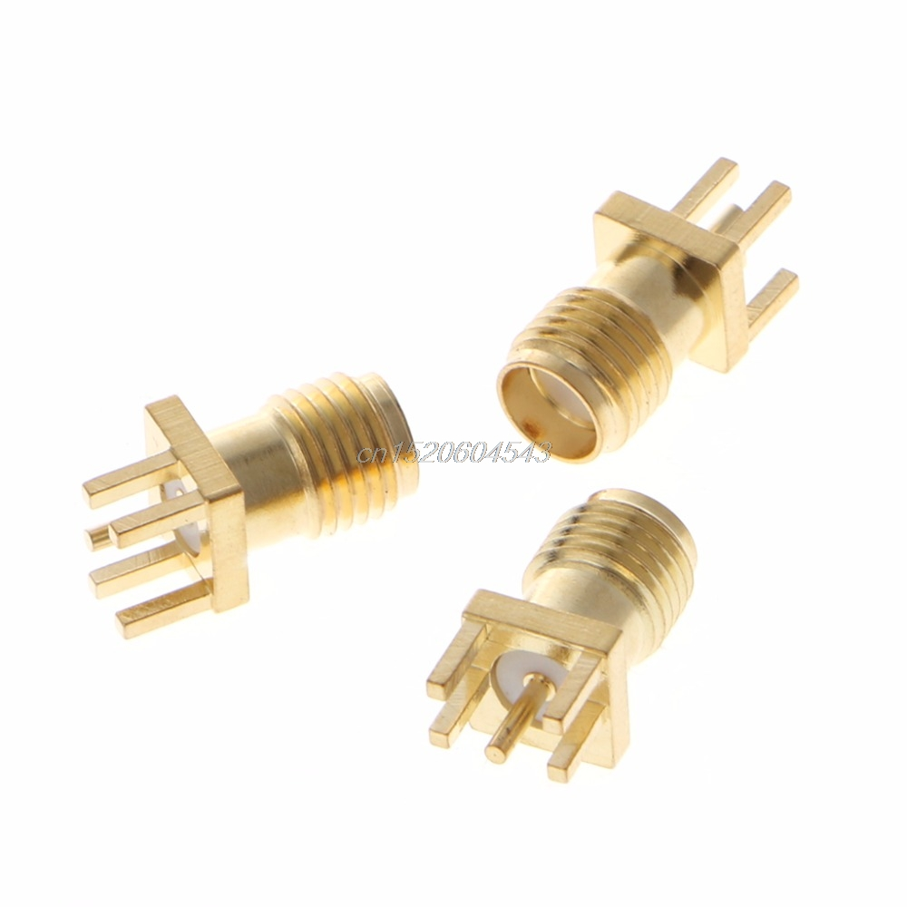 10 Pcs SMA Female Jack Solder Edge 1.6mm Space PCB Mount Straight RF Connector R06 Drop Ship high quality 10 pcs x bnc female nut bulkhead solder rf connector adapters
