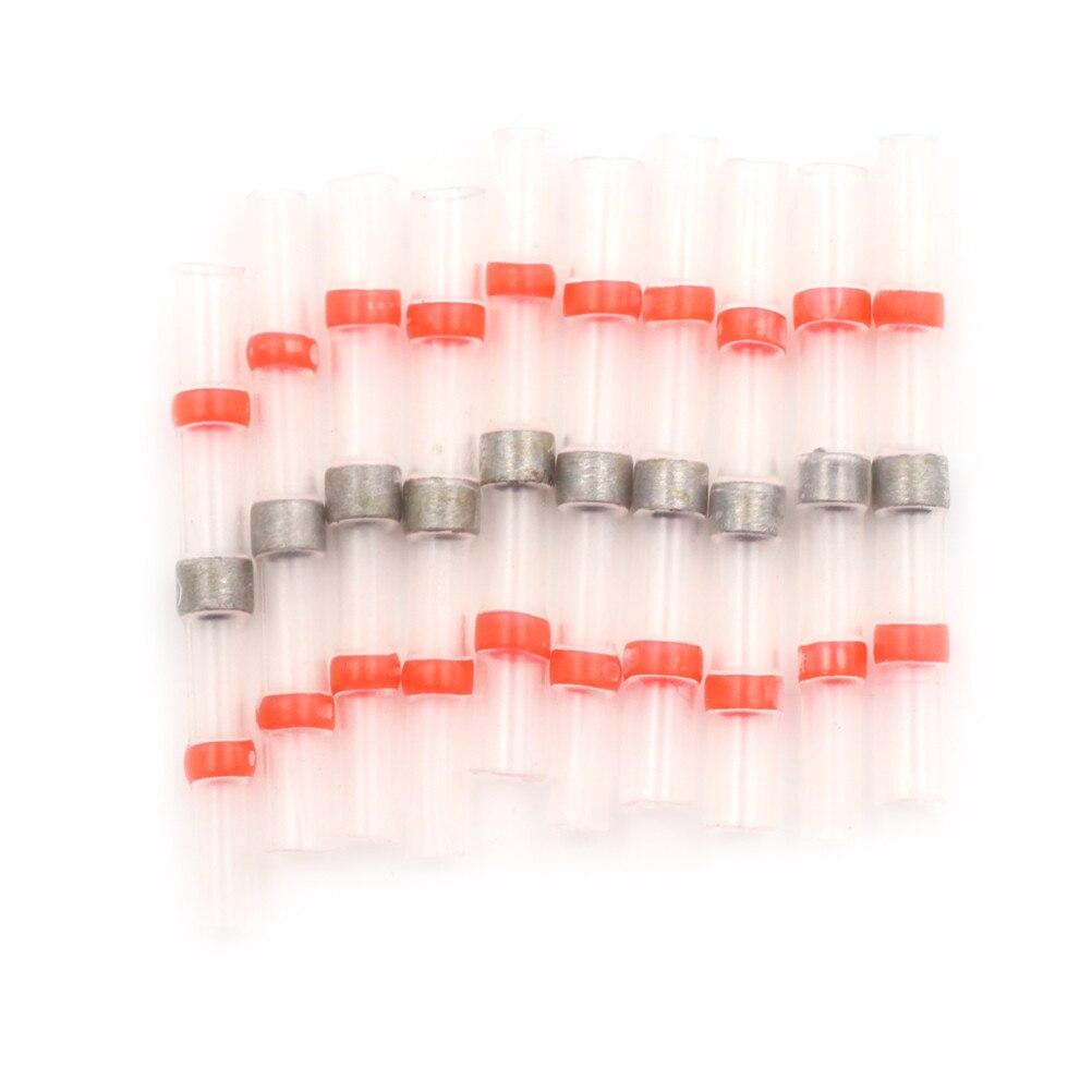 10 Stücke 22-18awg Wasserdichte Schrumpf Butt Draht Splice Connector Solder Sleeve Dichtung Terminals Kit Set Rot