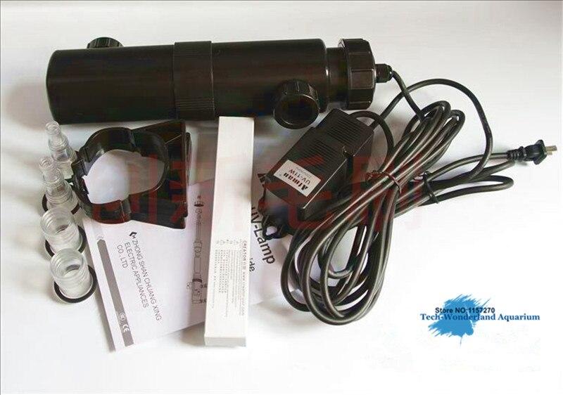 Puissant UV germicide pour aquarium ou étang lampe UV stérilisateur Ultraviolet élimination des algues pour filtre externe Atman UV 18 W