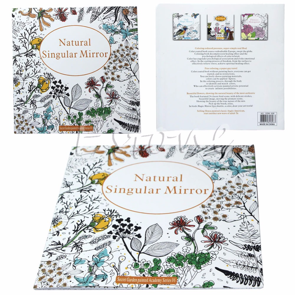 Coloring book untuk dewasa - Secret Garden Seri Alami Tunggal Cermin Buku Mewarnai Untuk Dewasa Anak Hadiah China Mainland