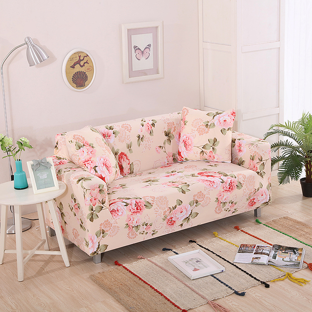 Sensational Us 10 52 Pink Print 1Pcs Spandex Elastic Stretch Sectional Sofa Cover Protective Slipcovers All Inclusive Couch Case Cover Living Room In Sofa Pdpeps Interior Chair Design Pdpepsorg