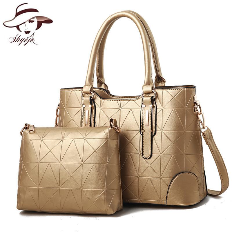 2018 New Arrival Vintage Fashion Women Messenger Handbag 2 Bags/set Designer Handbags High Quality PU Leather Bags Shoulder Tote miwind new fashion leather handbags high quality women shoulder bags buy one get another free full set 6 pieces more favorable